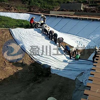 膨润防水毯施工现场